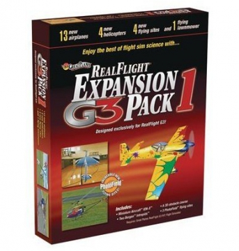 Real Flight G3 Exp.pack 1 i gruppen Fabrikat / R / RealFlight / Simulatorer hos Minicars Hobby Distribution AB (18MZ4111)
