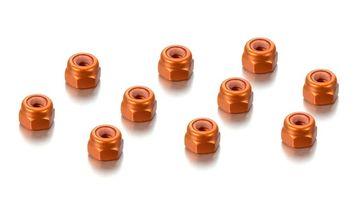 lagerMutter Alu M3 Orange (10), Hudy