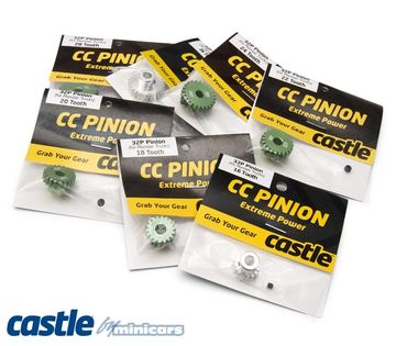 CC PINION 32 Pitch Set i gruppen Fabrikat / C / Castle Creations / Pinionger hos Minicars Hobby Distribution AB (CC010-0065-15)