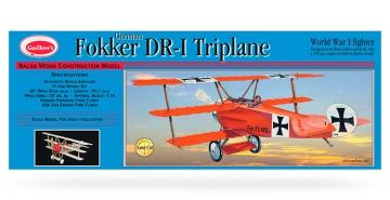 Fokker Triplane Laser Cut, Guillow