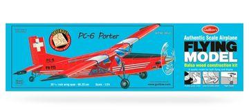 PC6 Porter model kit -Las, Guillow