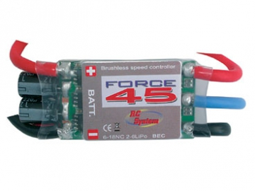 Fartreglage Brushless 45A RCS* SALE i gruppen Fabrikat / R / RC System / Tillbehör hos Minicars Hobby Distribution AB (RCSA102-45)