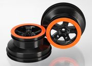 "Fälg SCT Svart-Orange 2.2/3.0"" 4WD/2WD Bak (2)"