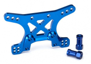 Shock tower, front, alu (blue-anodized)