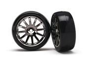12-SP BLK WHEELS, SLICK T