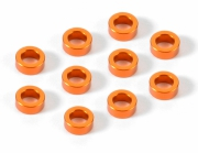 Shims alum 3x5x2mm Orange (10)
