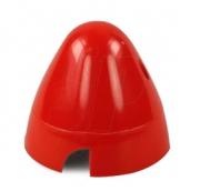 Spinner 75mm röd plast