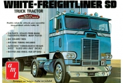 White Freightliner Single