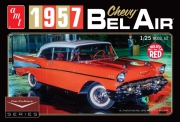 1957 Chevy Bel Air - Röd - 1/25