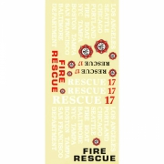 Decal Sheet Rescue 17* SALE