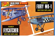 Fairey Flycatcher & Hawker Fury 2-PACK 1/48