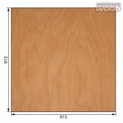 Aircraft Birch Plywood 1.0 x 915 x 915 mm 3-ply