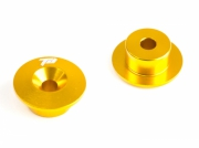 ALU FRONT BULKHEAD BUTTON (2pcs)(GOLD)