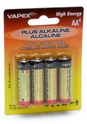 Plus Alkaline batteries AA 4pc