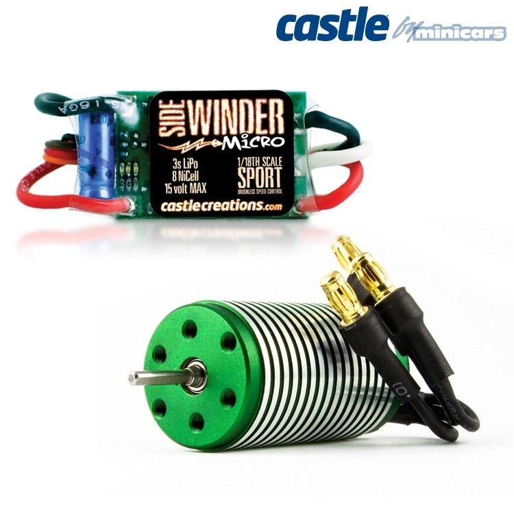 SIDEWINDER 1:18 Micro Car ESC w/ 0808 8200KV MOTOR*