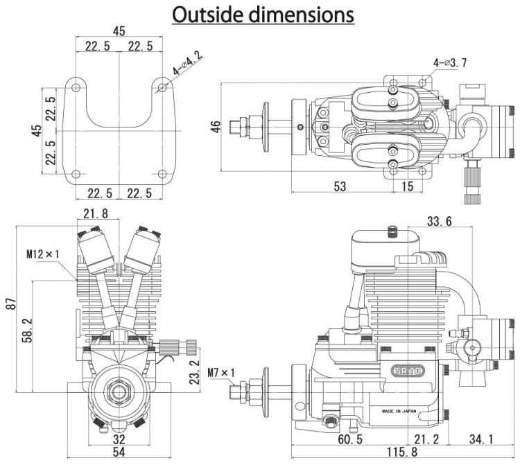 Fg 11a 11cc 4 Stroke Gasoline Engine