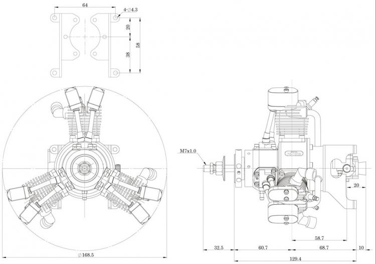 52 2 Stroke Glow Engine