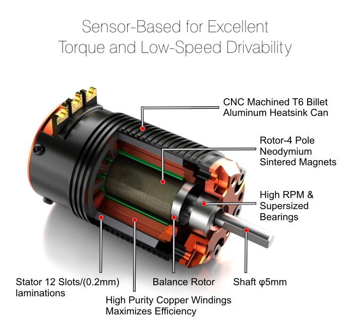 Toro S Pro 4 Pole Sensor Bl Motor Short Course 4300kv