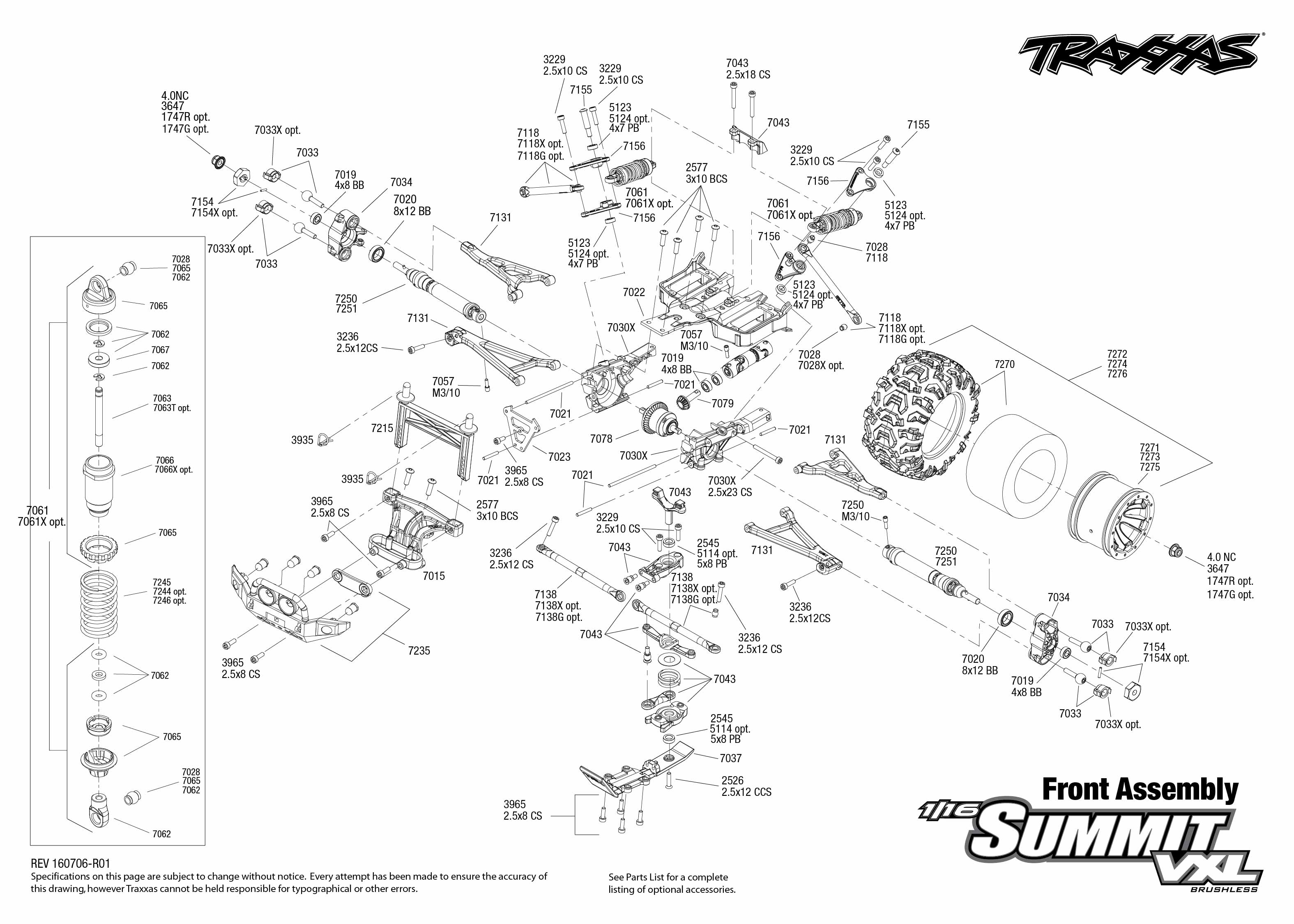 summit 1  16 vxl 4wd rtr tqi tsm  disc